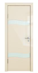 Межкомнатная дверь Дверная Линия ДО 503 Ваниль глянец стекло белый лак