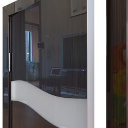 Межкомнатная дверь Дверная Линия ДО-503 Венге глянец стекло белое матовое (снег)