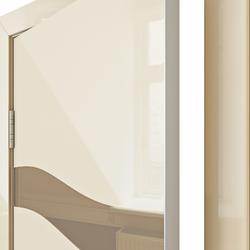 Межкомнатная дверь Дверная Линия ДО 503 Ваниль глянец зеркало бронза