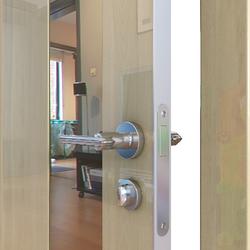 Межкомнатная дверь Дверная Линия ДО-504 Анегри светлый зеркало бронза