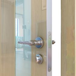 Межкомнатная дверь Дверная Линия ДО-504 Анегри светлый стекло белое матовое
