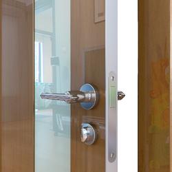 Межкомнатная дверь Дверная Линия ДО-504 Анегри тёмный стекло белое матовое