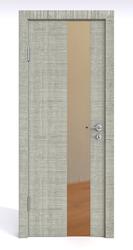 Межкомнатная дверь Дверная Линия ДО-504 Серый дуб зеркало бронза