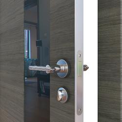 Межкомнатная дверь Дверная Линия ДО-504 Ольха темная стекло черное
