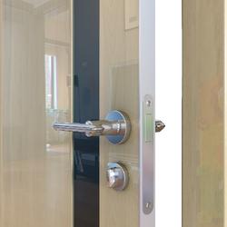 Межкомнатная дверь Дверная Линия ДО-507 Анегри светлый стекло чёрное