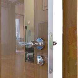 Межкомнатная дверь Дверная Линия ДО-507 Анегри тёмный зеркало бронза
