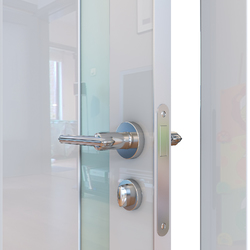 Межкомнатная дверь Дверная Линия ДО-507 Белый глянец стекло белое