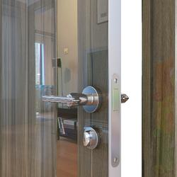 Межкомнатная дверь Дверная Линия ДО-507 Сосна глянец зеркало бронза