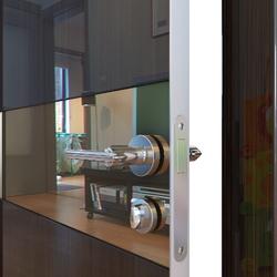 Межкомнатная дверь Дверная Линия ДО-509 Венге глянец зеркало бронза