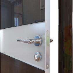 Межкомнатная дверь Дверная Линия ДО-509 Венге глянец стекло белое матовое (снег)