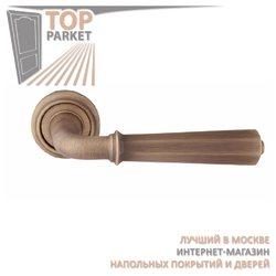 Ручка дверная на розетке Denver Матовая бронза