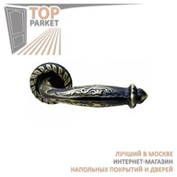 Ручка дверная на розетке Emerald Затемненная бронза