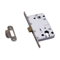 Защелка механическая врезная LP 5112CL AB/ACF антич. бронза / античный кофе, под ключ. цилиндр