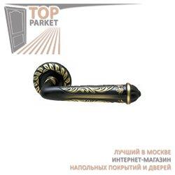 Ручка дверная на розетке Rubin Затемненная бронза