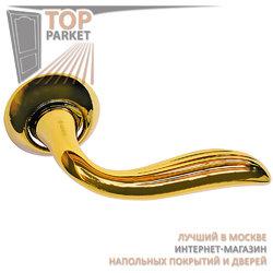 Ручка дверная на круглой накладке S010 10022 золото