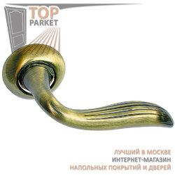 Ручка дверная на круглой накладке S010 100BB античная бронза