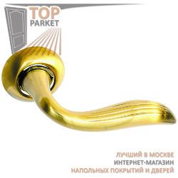Ручка дверная на круглой накладке S010 100II матовое золото