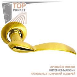 Ручка дверная на круглой накладке S010 103II матовое золото