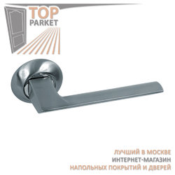 Ручка дверная на круглой накладке S010 110HH белый никель
