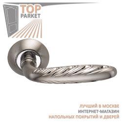 Ручка дверная на круглой накладке S010 167HH белый никель