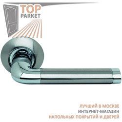 Ручка дверная на круглой накладке S010 47HH белый никель