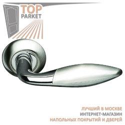 Ручка дверная на круглой накладке S010 95HH белый никель