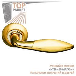 Ручка дверная на круглой накладке S010 95II матовое золото
