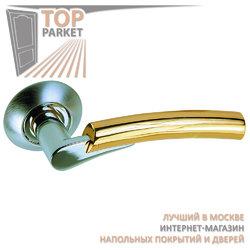 Ручка дверная на круглой накладке S010 G92 хром матовый / золото