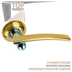 Ручка дверная на круглой накладке S010 L22 золото