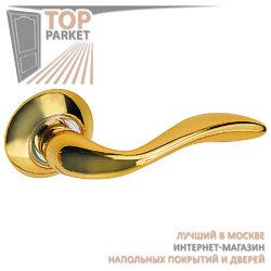 Ручка дверная на круглой накладке S010 R22 золото