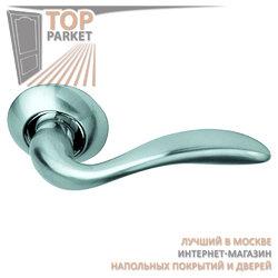 Ручка дверная на круглой накладке S010 RHH белый никель
