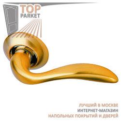Ручка дверная на круглой накладке S010 RII матовое золото