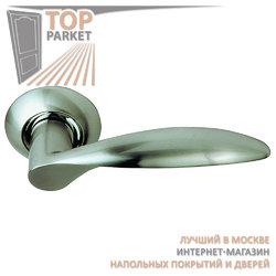 Ручка дверная на круглой накладке S010 X10HH белый никель