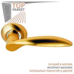 Ручка дверная на круглой накладке S010 X10II матовое золото