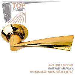 Ручка дверная на круглой накладке S010 X1122 золото
