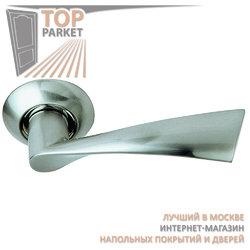 Ручка дверная на круглой накладке S010 X11HH белый никель