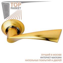 Ручка дверная на круглой накладке S010 X11II матовое золото
