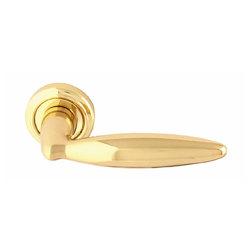 Ручка дверная на розетке Salo Матовая латунь