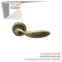 Ручка дверная на розетке Shamira Матовая бронза