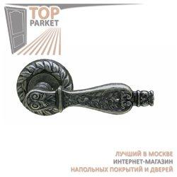 Ручка дверная на розетке Siracusa Античное серебро