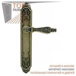 Ручка дверная на пластине Siracusa Старинная латунь