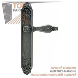 Ручка дверная на пластине Siracusa Античное серебро
