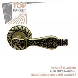 Ручка дверная на розетке Siracusa Старинная латунь