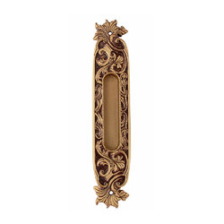 Ручка для раздвижных дверей Class Старинная латунь + Коричневый