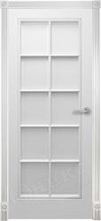 Межкомнатная дверь Оникс Турин Белая Эмаль с текстурой фрезированная решетка №1
