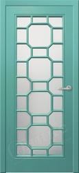 Межкомнатная дверь Оникс Турин  Эмаль по Ral фрезированная решетка №3