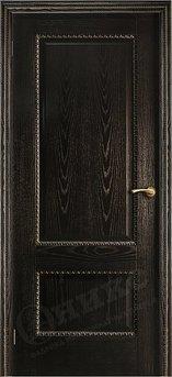 Дверь Александрия 2 Черная эмаль патина золото