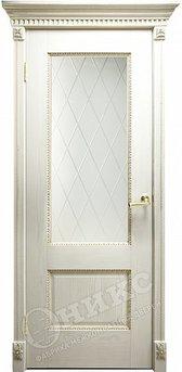 Дверь Александрия 2 патина золото Гравировка Ромбы