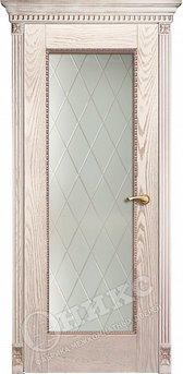 Дверь Александрия патина гравировка ромбы