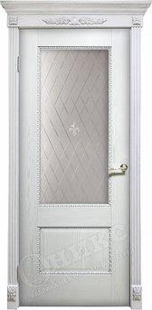 Дверь Александрия 2 патина серебро Гравировка Британия